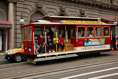 The cable car in San Francisco