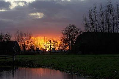A burning sunrise near Reewijk