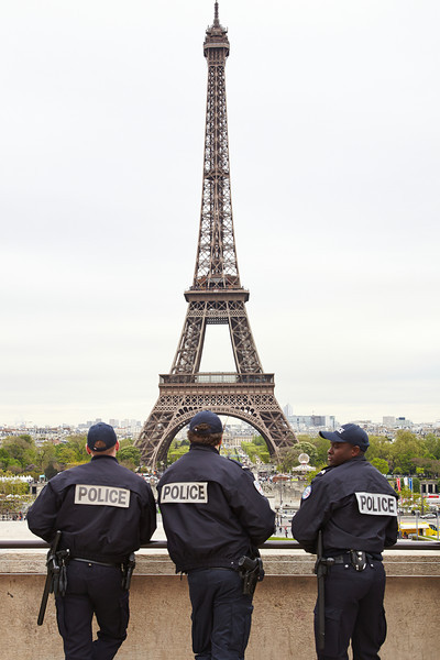 Guarding the Eiffel tower