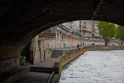A quai at the river Seine in Paris