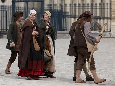 Shooting a movie at Versailles