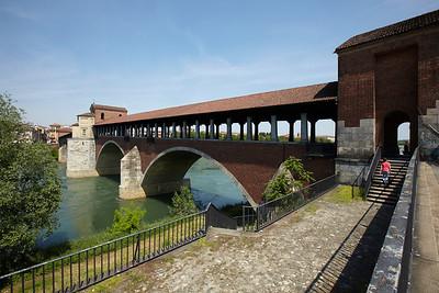 The bridge over the Ticino in Pavia