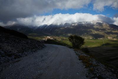 The mountains near Castellucio