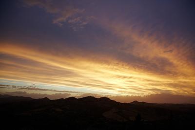 Great sunset sky near Verrucchio