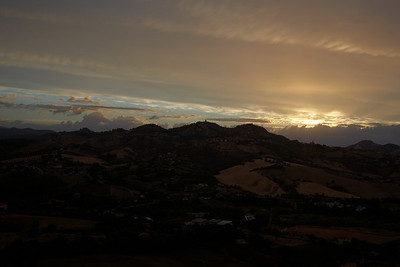 Sunset over the hills as seen from Verrucchio