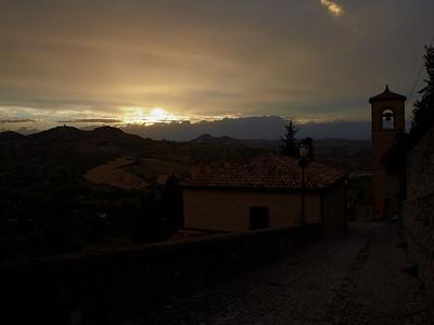 Sunset at Verrucchio