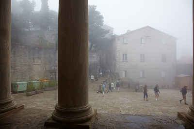 San Marino in the clouds / mist