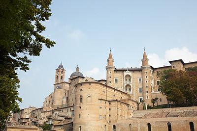 The impressive architecture of the city of Urbino
