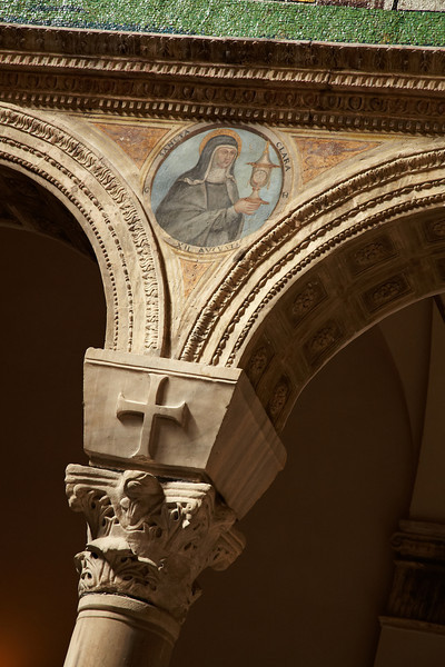 Detail of the church decorations in Ravenna