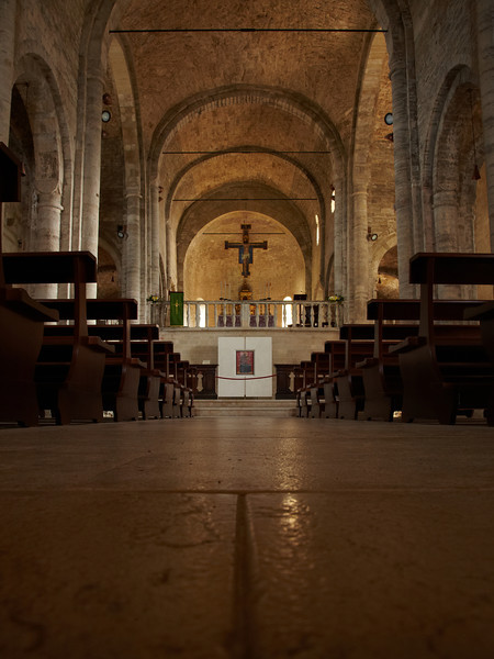 A beautifully modest church in the village of San Leo