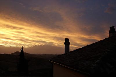 Verrucchio sunset