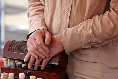 Hands of te tradesman