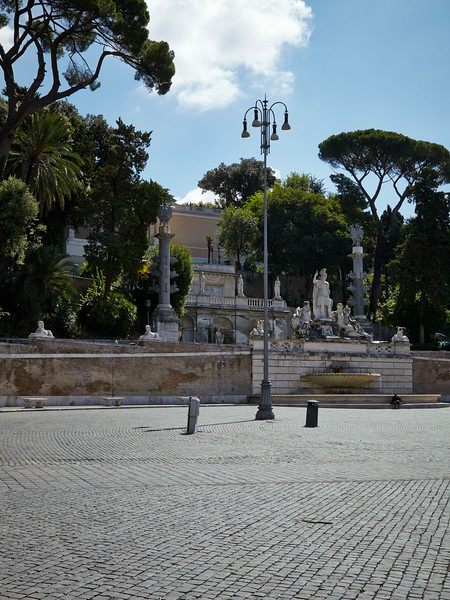 View on Villa Borghese from Piazza del Poppolo