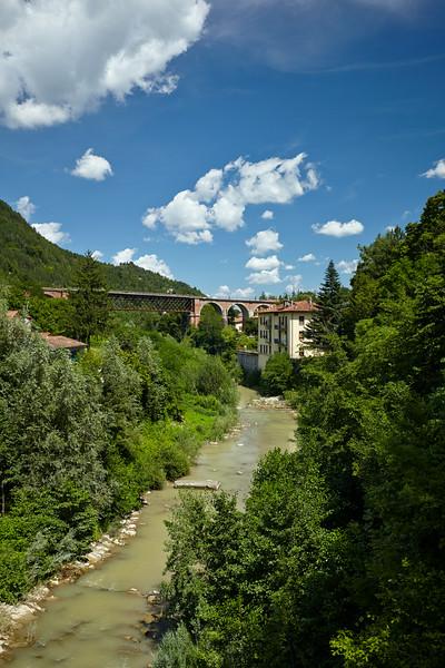 The train crossing at Marradi