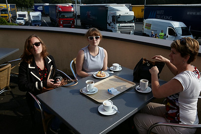 Our first coffee break on the way to Italy