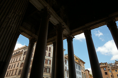 Looking out of the Pantheon