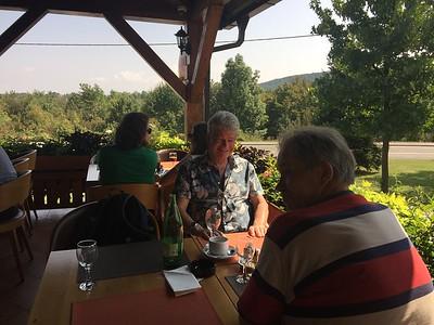 Hapje lunch voorafgaand aan de Plitvice meren