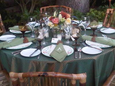 Autumn Garden Supper in a Charleston Garden