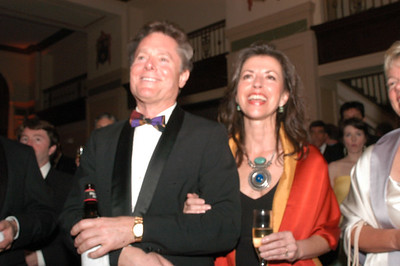 Another newly wedded couple, hostess Carolyn River and Henk Brandt