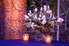 Our bohemian glass cut crystal votive candle holders were perfect for this event.