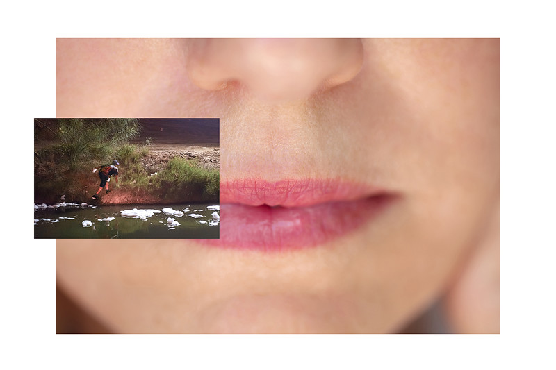 A person, who has illegally passed in to the U.S., is allowed to walk back in to Mexico instead of swimming in the New River, the most polluted river in North America, in Calexico, Monday, March 21, 2005.  I didn't have to sneak across the border.