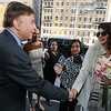 "Bollywood Actress Priyanka Chopra  arrives for the press conference in New York on dec 10th at Loews Regency Hotel to talk about her up coming movie ""Bajirao Mastani"" to be released on 18th dec 2015 she is received by EROS International President Ken Naz...pic Mohammed Jaffer-Snapsindia"