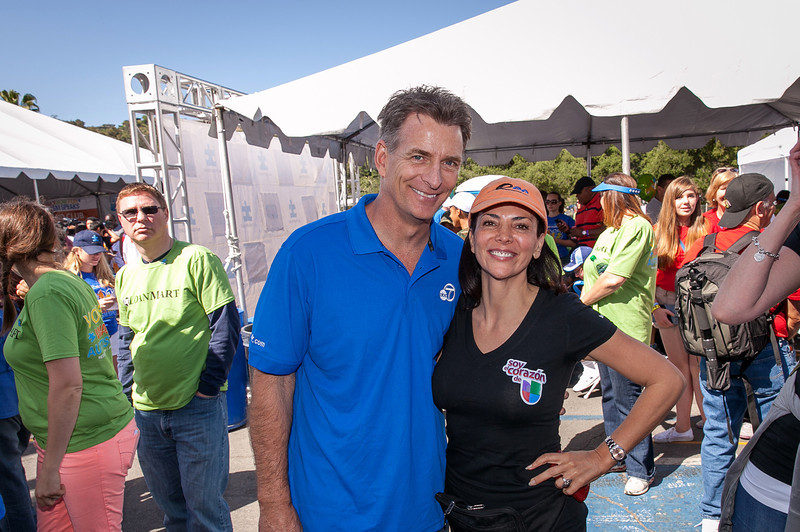 Phillip Palmer and Gabriela Teissier at the 2013 Los Angeles Walk Now for Autism Speaks Photo by Efong Chiu