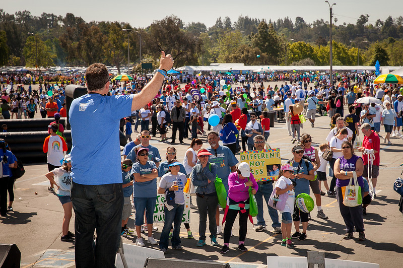 Autism Speaks Executive Director for Southern California Matt Asner at the 2013 Los Angeles Walk Now for Autism Speaks Photo by Efong Chiu