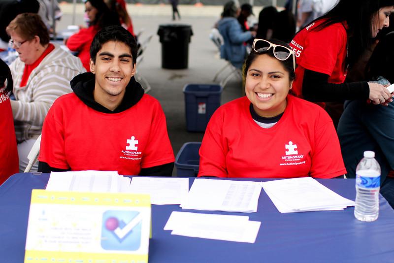 Volunteers at registration