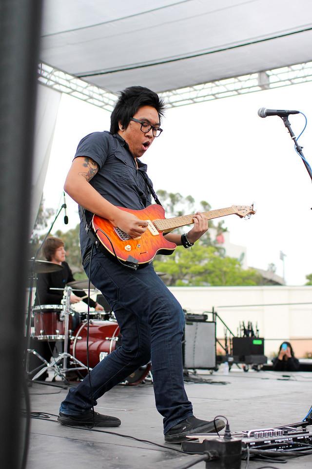 Lead guitarist for AJ Rafael.