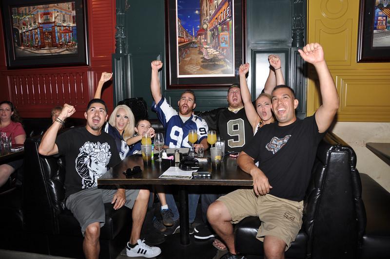 Bourbon Street NFL Season Opener with Former Rams Mike Lansford, Leroy Irvin and Swipe4TheKids Giving Back - Bourbon Street Bar & Grill - Fullerton, CA
