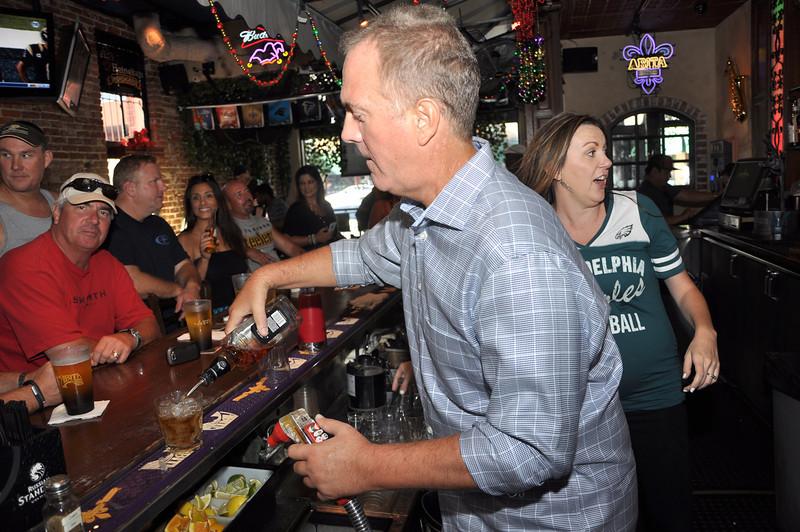 Bourbon Street NFL Season Opener with Former Rams Mike Lansford, Leroy Irvin and Swipe4TheKids Giving Back - Bourbon Street Bar & Grill - Fullerton, CA - Photos for Press