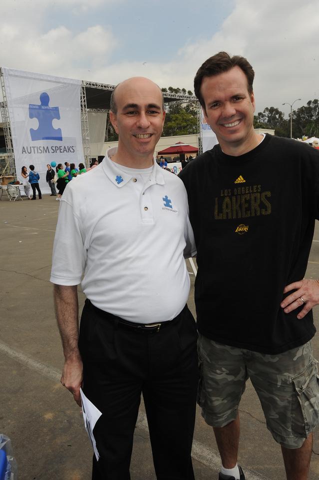 Phillip Hain, Executive Director of Autism Speaks Los Angeles and John Ireland (I think)