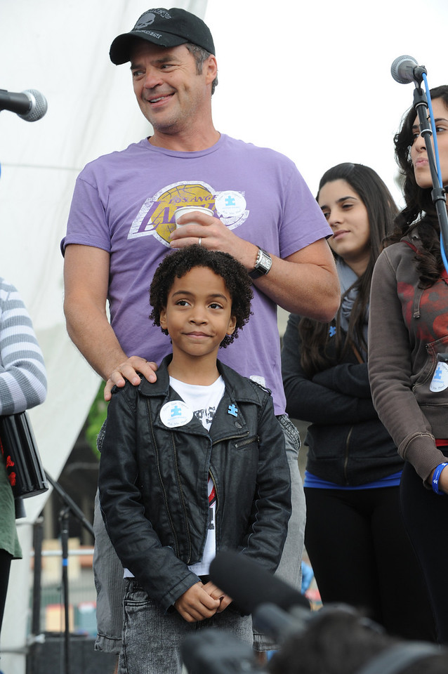 Days of Our Lives actors Wally Kurth and Terrel Ransom Jr. Ransom Jr. plays a child with autism on Days of our Lives
