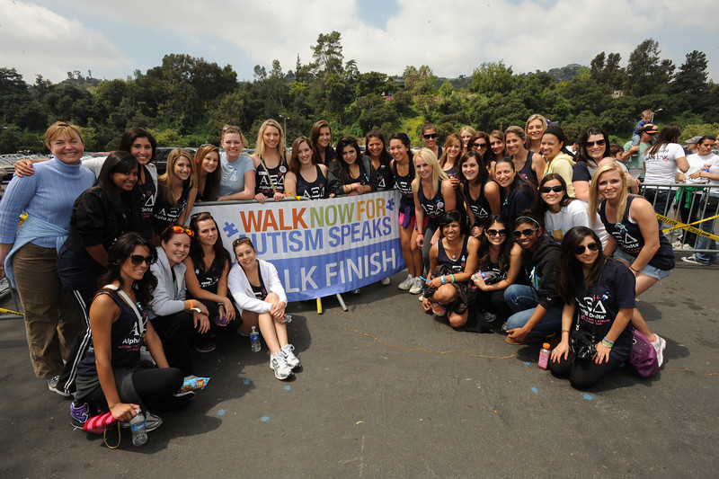Top fundraising team Alpha Xi Delta raised a total of 54,600.08 for the Walk Now for Autism Speaks Los Angeles