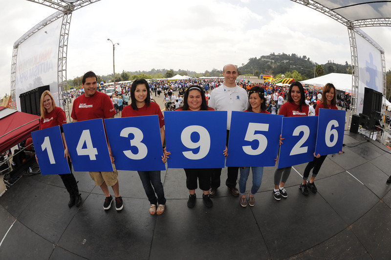 Team Gap proudly displays the grand total figures from the 2011 Walk Now for Autism Speaks Los Angeles