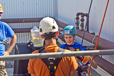 """""""Over the Edge"""" Rappelling with Autism Speaks - Renaissance Airport Hotel - Los Angeles CA - by Adam Domenici"""