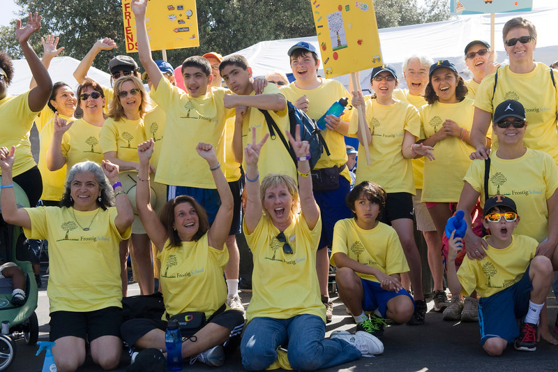 Team Frostig poses for a photo during Walk Now for Autism Speaks event Saturday at the Rose Bowl.