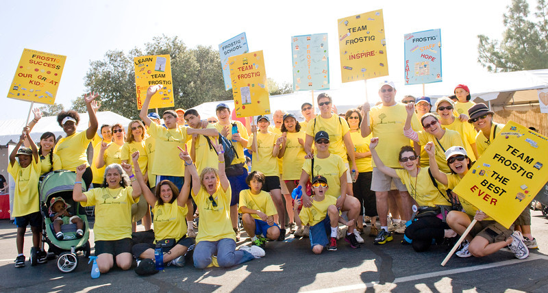 Team Frostig poses for a photo during Saturday's Los Angeles Walk Now for Autism Speaks event.