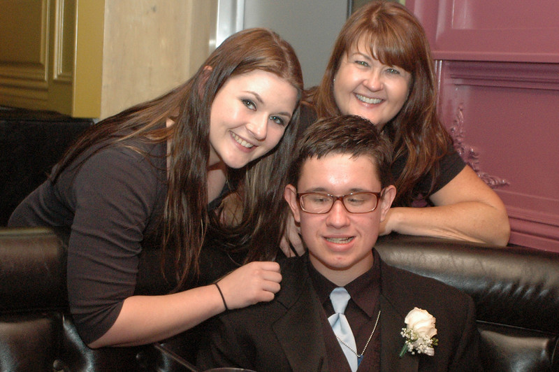 Sister Cassie Brady, Prom Goer Christopher Brady and event organizer and mom Angie Sellers at all abilities prom