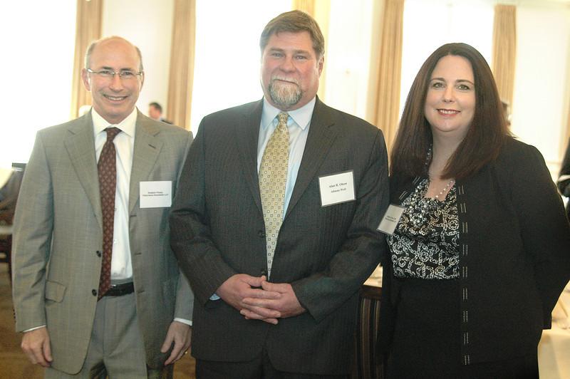 Managing partner of Troutman Sanders Robert Pozin, Speaker Alan R  Olson and OC-ALA Board President Sheri Clifton CLM of Troutman Sanders