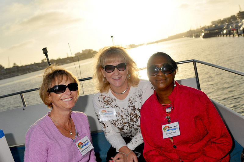 Photo: Immediate past President Pam Kuckelman of Allen Matkins in Irvine with sponsors from Studley and Legal Staffing Group Sharon Olson and Jeanie Cabell on the harbor cruise, Thursday June 17, 2010, in Newport Beach. A group of 18 legal administrators from Orange County law firms enjoyed scenic views of Newport Beach Harbor during the networking event hosted by the Orange County Chapter of the Association of Legal Administrators. Photo by Jess Block/ Current