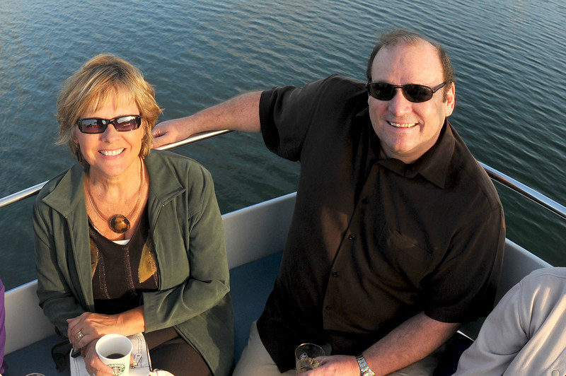 Photo: Legal Administrators Linda Galloway of Declues, Burkett & Thompson LLP in Huntington Beach, Terry Vickery of Aleshire & Wynder LLP in Irvine on the harbor cruise, Thursday June 17, 2010, in Newport Beach. A group of 18 legal administrators from Orange County law firms enjoyed scenic views of Newport Beach Harbor during the networking event hosted by the Orange County Chapter of the Association of Legal Administrators. Photo by Jess Block/ Current