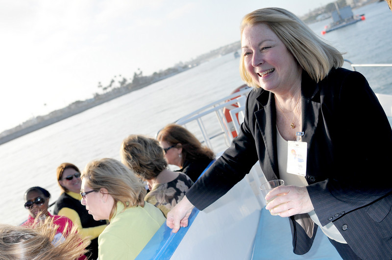 Photo: Legal Administrator Jeanette Vella of Freeman, Freeman and Smiley in Irvine on the harbor cruise, Thursday June 17, 2010, in Newport Beach. A group of 18 legal administrators from Orange County law firms enjoyed scenic views of Newport Beach Harbor during the networking event hosted by the Orange County Chapter of the Association of Legal Administrators. Photo by Jess Block/ Current