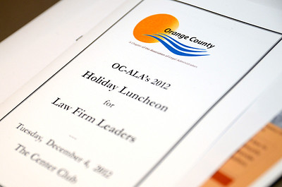 2012 Law Firm Leadership Holiday Luncheon - Center Club - Costa Mesa, CA