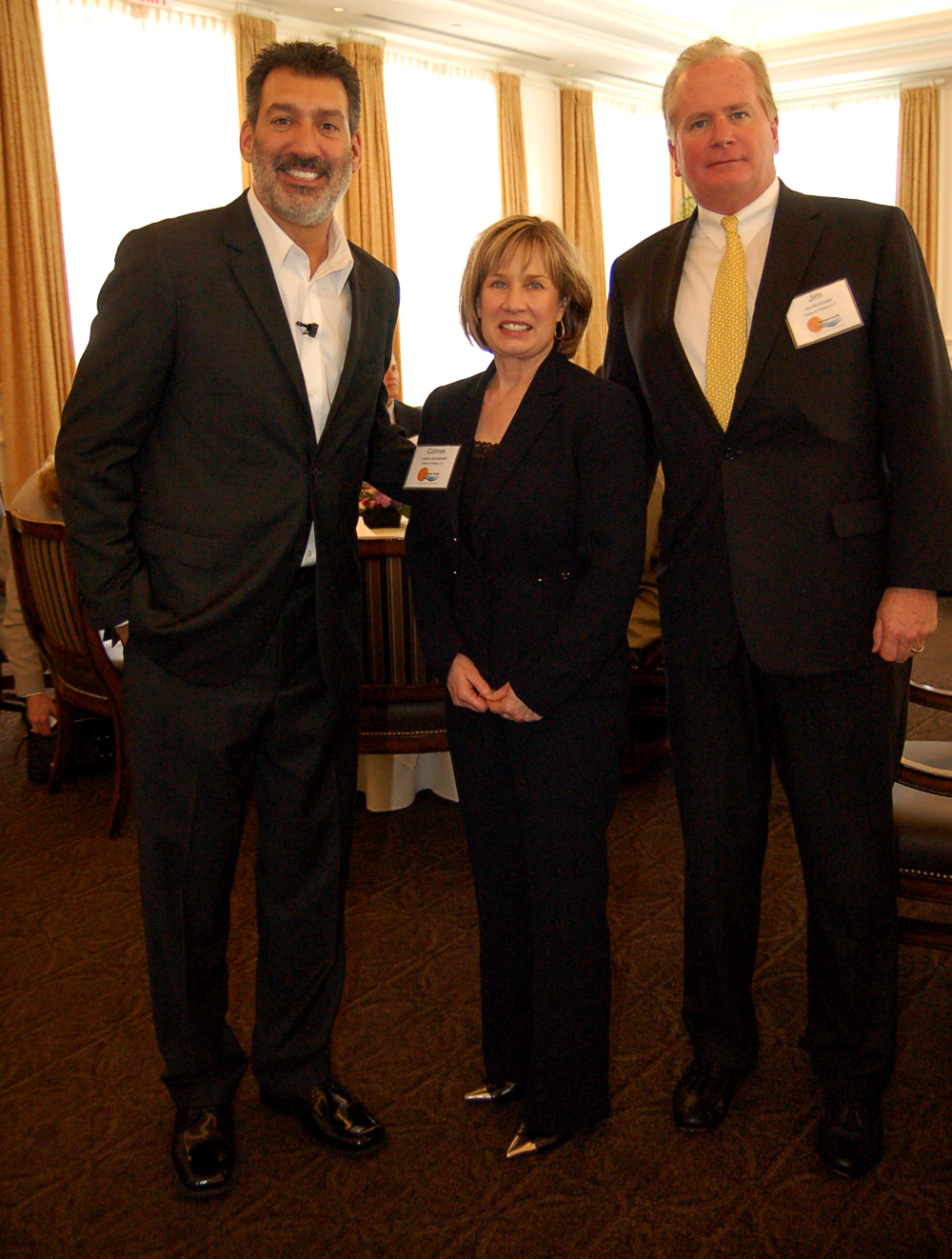 Keynote Speaker David Avrin with Connie Jedrzejewski and Jim McDonald of Fisher and Phillips LLP