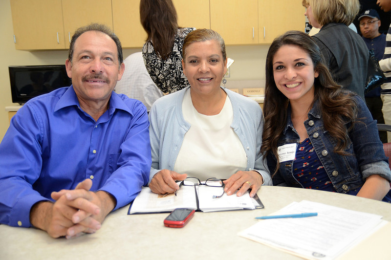 Stradling Yocca Carlson & Rauth, PC Project SELF intern Maryrosy Araujo (far right) with her parents