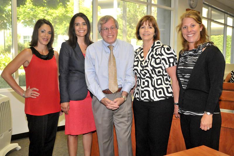 Nancy Garcia, Gaby Fischer, Dean Erwin Chemerinsky, Donna Williams, and Anna Davis
