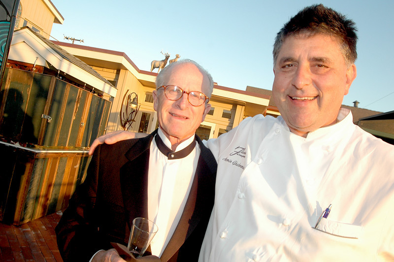 OCBF Food and Wine Society founder Ygal Sonenshine with Sapphire Chef Azmin Ghahreman  at the OCBF Food and Wine Society Dinner at Sapphire in Laguna Beach April 14, 2008. Members of the Food and Wine Society support Orange County Bar Foundation's juvenile diversion and law related programs while enjoying two four course meals with expertly paired wines from OCBF's private wine cellar.
