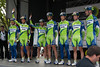 The team presentation for Liquigas